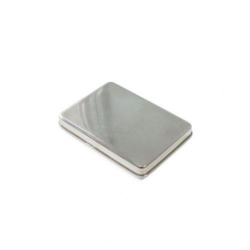 Vintage Stainless Case/ヴィンテージ ステンレス ケース 小物入れ インテリア レトロ シャビー インダストリアル Mサイズ