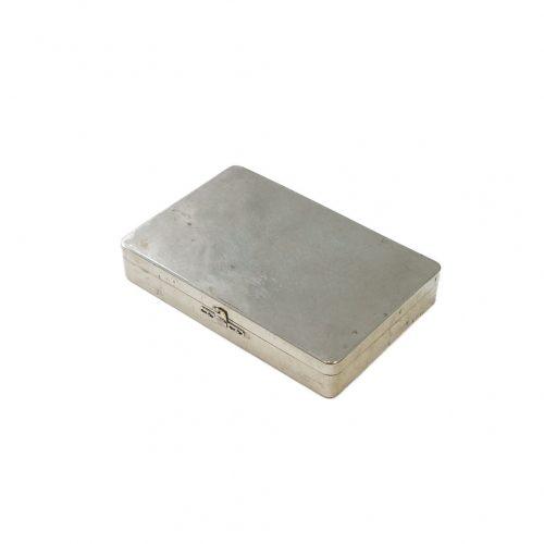 Vintage Stainless Case/ヴィンテージ ステンレス ケース 小物入れ インテリア レトロ シャビー インダストリアル Lサイズ