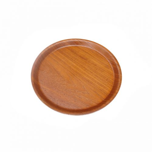 SAITO WOOD Teakwood Round Tray/サイトーウッド チーク材 ラウンドトレー お盆 プライウッド ヴィンテージ食器 モダン インテリア