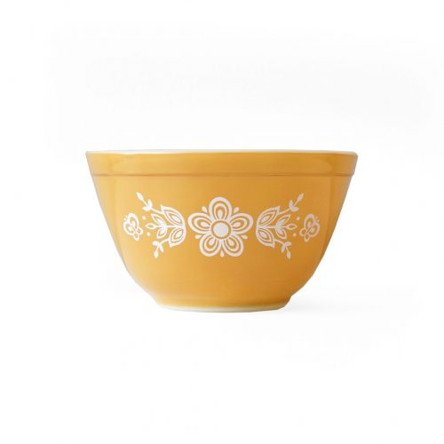 Old PYREX Mixing Bowl Butterfly Gold Ssize/オールドパイレックス ミキシングボウル アメリカヴィンテージ 食器 レトロ バタフライゴールド