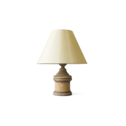 Antique Oakwood Table Lamp/アンティーク テーブルランプ オーク材 間接照明 シャビー インテリア 2