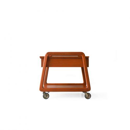 Danish Vintage Sika Møbler Sewing Wagon/デンマークヴィンテージ シカモブラー ソーイングワゴン チーク材 北欧家具