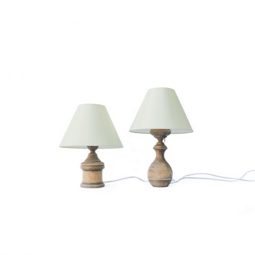 Antique Oakwood Table Lamp/アンティーク テーブルランプ オーク材 間接照明 シャビー インテリア