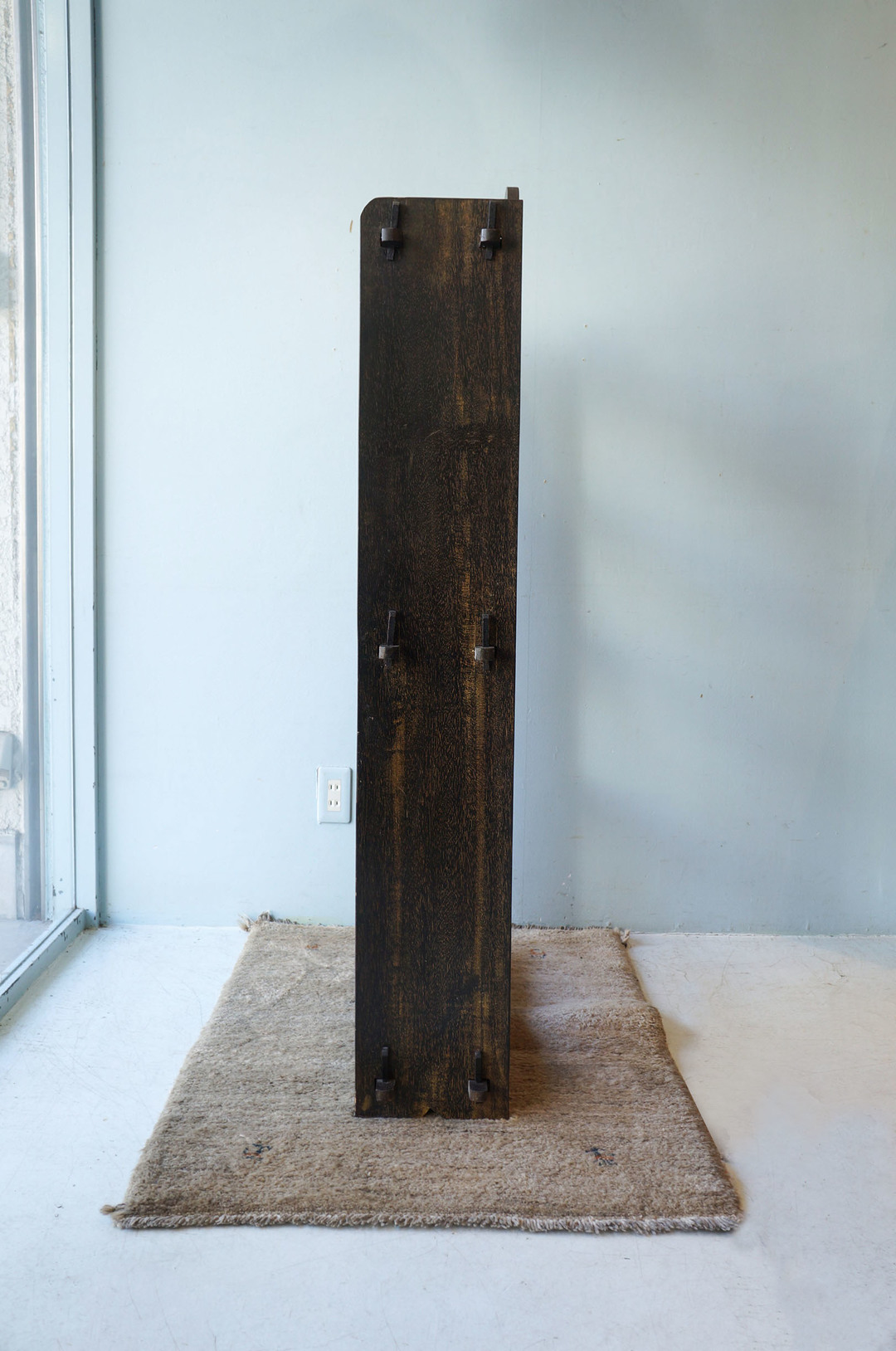 Japanese Vintage Wedge Book Shelf/ジャパンヴィンテージ 本棚 ブックシェルフ 楔式 収納 古道具 昭和レトロ 黒 2