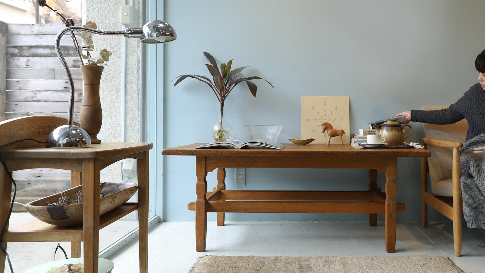 Denmark Vintage Center Table by Henning Kjaernulf for EG KVALITETSMØBEL