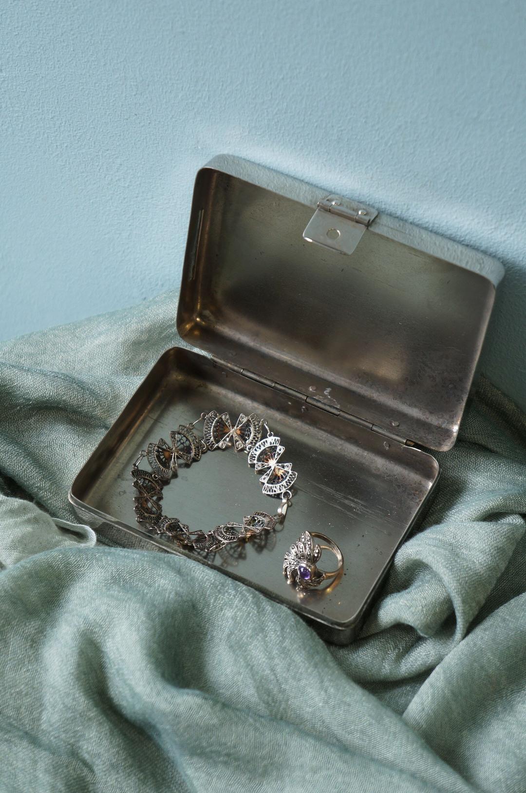 Vintage Stainless Interior Accessories/ヴィンテージ ステンレス トレイ ケース インテリア 小物 レトロ シャビー インダストリアル