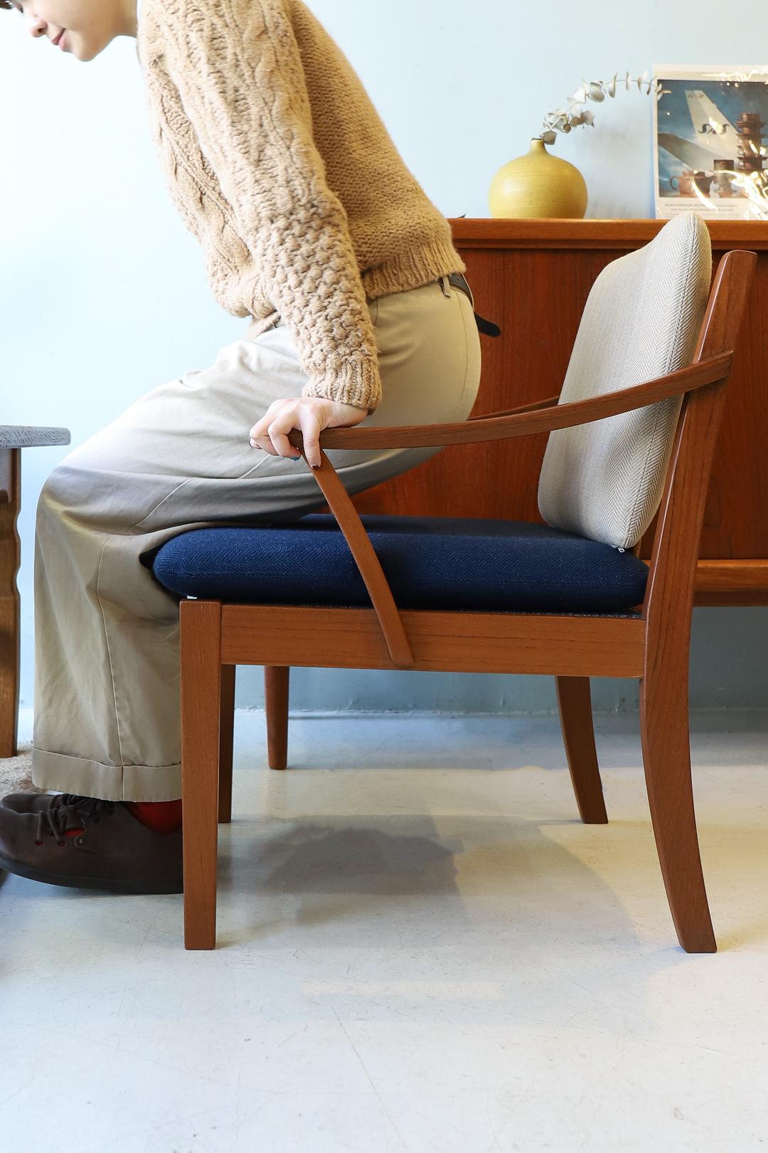 Japanese Vintage Teakwood Lounge Chair/ジャパンヴィンテージ ラウンジチェア アームチェア チーク材 椅子 北欧モダン