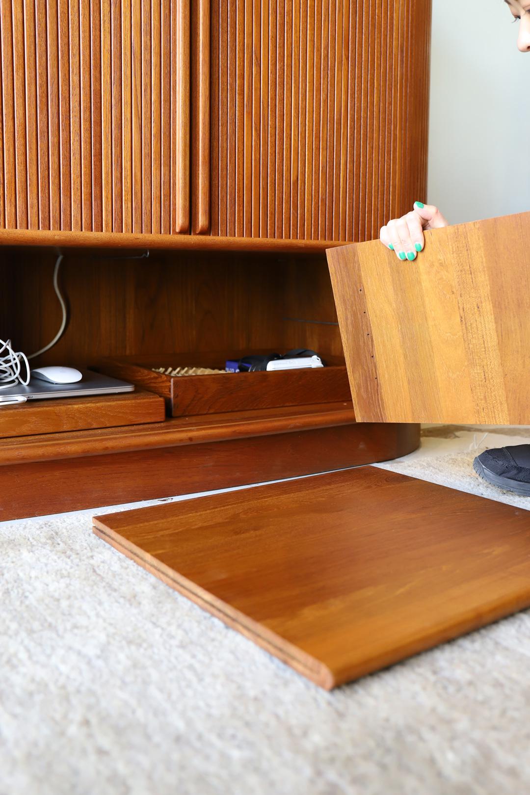 Danish Vintage Dyrlund Bellows Cabinet/デンマーク ヴィンテージ デューロン キャビネット 蛇腹 チーク材 テレビボード ミッドセンチュリー モダン