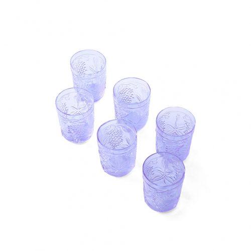 US Vintage Depression Glass Tumbler/アメリカヴィンテージ ディプレッションガラス タンブラー グラス レトロ 食器 ネオジムガラス アメジスト