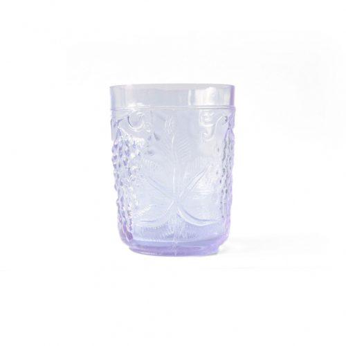 US Vintage Depression Glass Tumbler/アメリカヴィンテージ ディプレッションガラス タンブラー グラス レトロ 食器 ネオジムガラス アメジスト 1