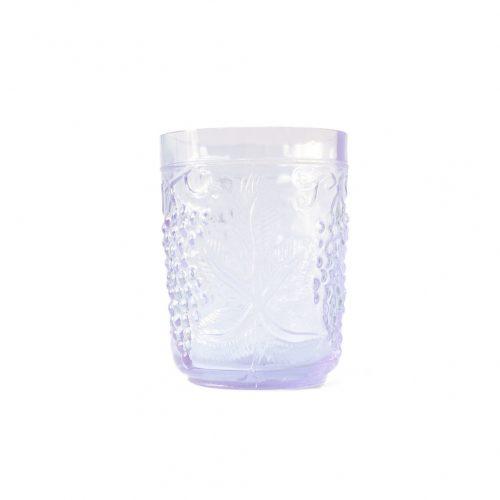 US Vintage Depression Glass Tumbler/アメリカヴィンテージ ディプレッションガラス タンブラー グラス レトロ 食器 ネオジムガラス アメジスト 4