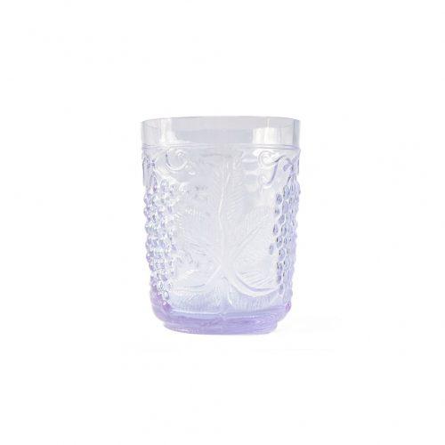 US Vintage Depression Glass Tumbler/アメリカヴィンテージ ディプレッションガラス タンブラー グラス レトロ 食器 ネオジムガラス アメジスト 5