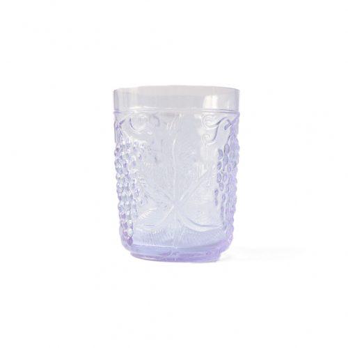 US Vintage Depression Glass Tumbler/アメリカヴィンテージ ディプレッションガラス タンブラー グラス レトロ 食器 ネオジムガラス アメジスト 6