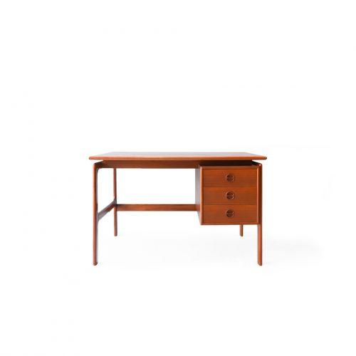 Danish Vintage Desk G.V.Møbler/デンマークヴィンテージ 片袖デスク チーク材 机 テーブル 北欧家具