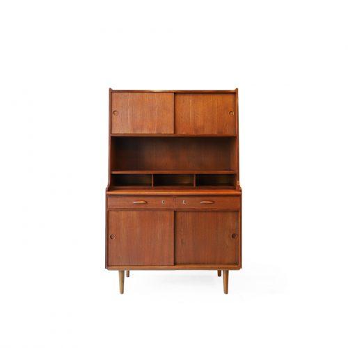 Danish Vintage Bookcase Bureau/デンマークヴィンテージ ブックケース ビューロ 収納 本棚 デスク カップボード チーク材 北欧家具