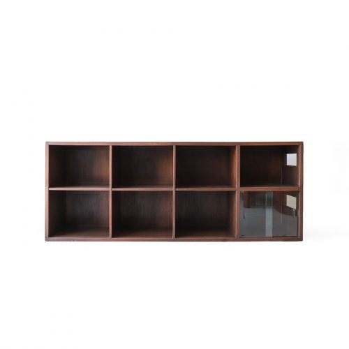 Japanese Vintage Sideways Bookshelf/レトロ 本棚 ブックシェルフ 横置き ローボード 古道具 ジャパニーズモダン 収納