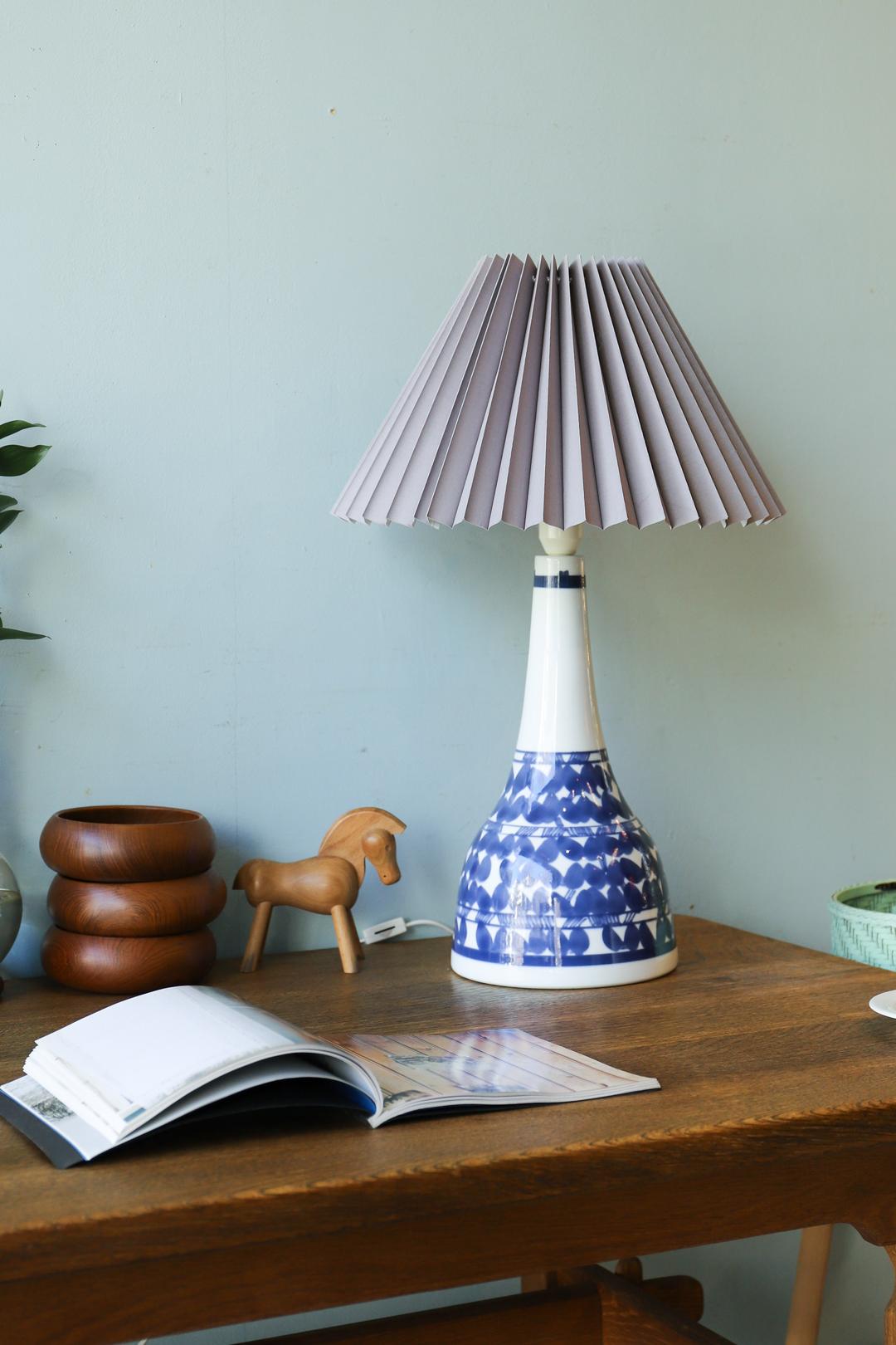 Scandinavian Vintage Pottery Table Lamp/北欧ヴィンテージ テーブルランプ 陶器 照明 インテリア