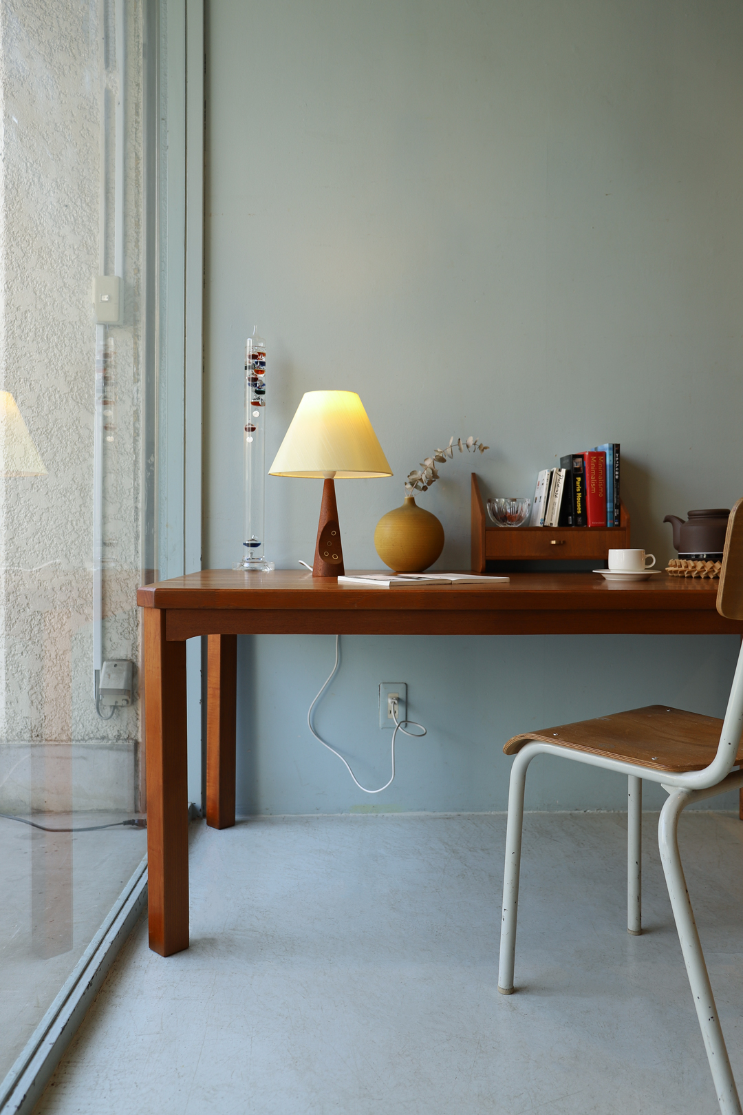Danish Vintage Teakwood Brass Table Lamp/デンマークヴィンテージ テーブルランプ チーク材×真鍮 ミッドセンチュリーモダン インテリア 北欧デザイン