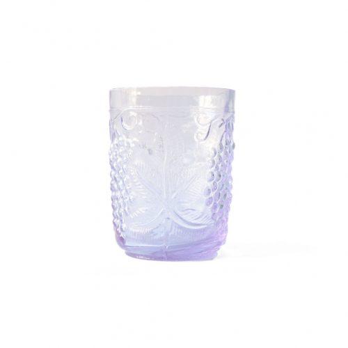 US Vintage Depression Glass Tumbler/アメリカヴィンテージ ディプレッションガラス タンブラー グラス レトロ 食器 ネオジムガラス アメジスト 3