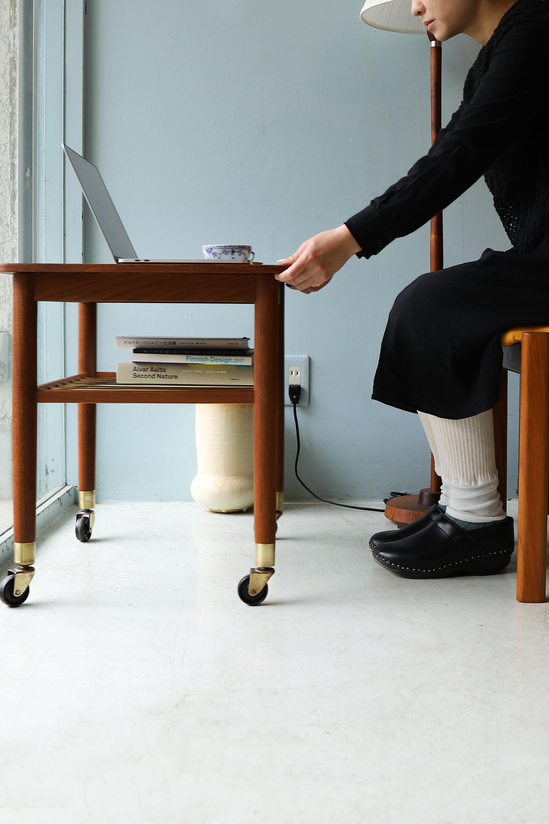Danish Vintage Teakwood Wagon Table/デンマークヴィンテージ ワゴンテーブル サイドテーブル キャスター付き チーク材 北欧家具