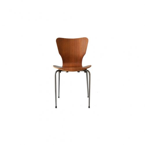 Danish Vintage Teak Plywood Stacking Chair MH Stålmøbler/デンマークヴィンテージ スタッキングチェア チーク材 プライウッド 椅子 ミッドセンチュリー モダン 北欧家具 1