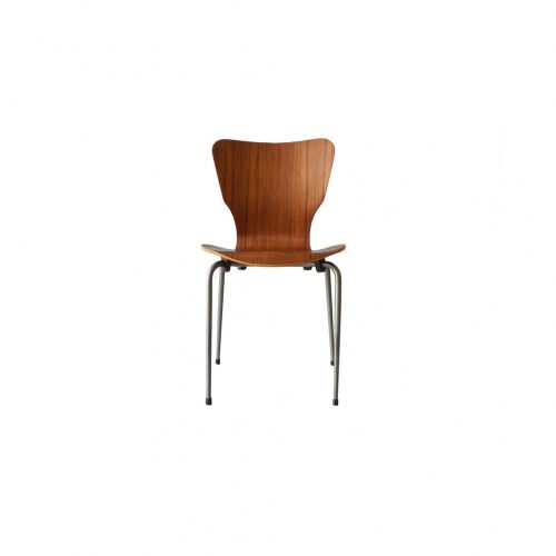 Danish Vintage Teak Plywood Stacking Chair MH Stålmøbler/デンマークヴィンテージ スタッキングチェア チーク材 プライウッド 椅子 ミッドセンチュリー モダン 北欧家具 2