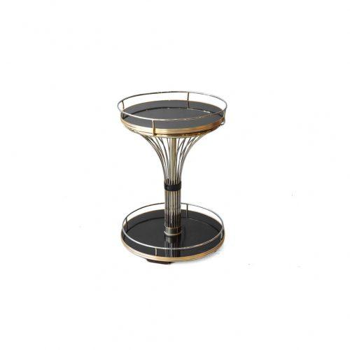 US Midcentury Vintage Side Table/アメリカヴィンテージ サイドテーブル ラウンド ミッドセンチュリー メラミントップ インテリア