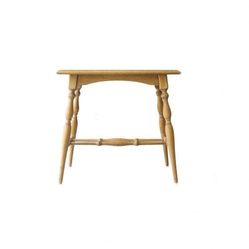 UK Antique Oakwood Side Table/イギリスアンティーク サイドテーブル オーク材 花台 ターンドレッグ シャビーシック