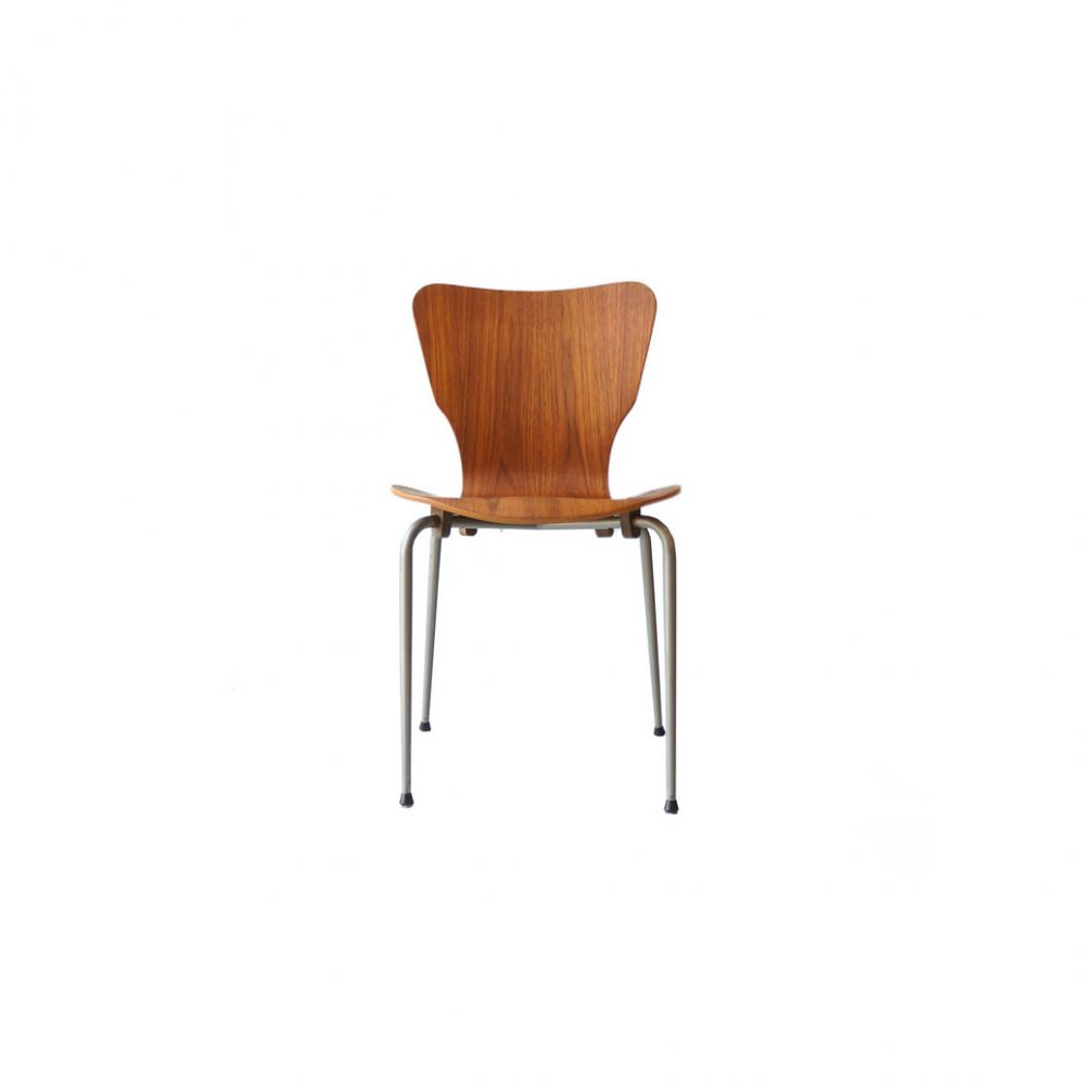Danish Vintage Teak Plywood Stacking Chair MH Stålmøbler/デンマークヴィンテージ スタッキングチェア チーク材 プライウッド 椅子 ミッドセンチュリー モダン 北欧家具 5