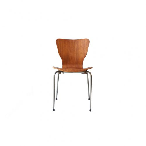 Danish Vintage Teak Plywood Stacking Chair MH Stålmøbler/デンマークヴィンテージ スタッキングチェア チーク材 プライウッド 椅子 ミッドセンチュリー モダン 北欧家具 7