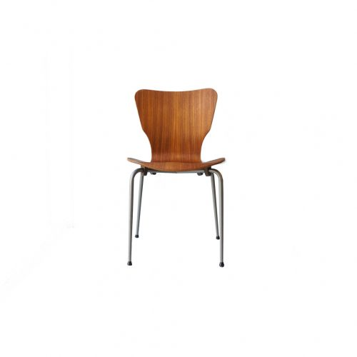 Danish Vintage Teak Plywood Stacking Chair MH Stålmøbler/デンマークヴィンテージ スタッキングチェア チーク材 プライウッド 椅子 ミッドセンチュリー モダン 北欧家具 8