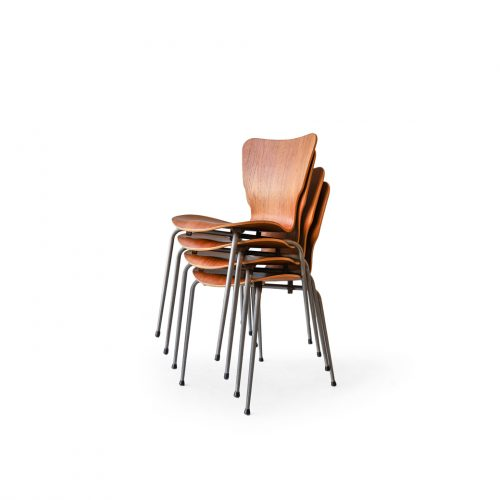 Danish Vintage Teak Plywood Stacking Chair MH Stålmøbler/デンマークヴィンテージ スタッキングチェア チーク材 プライウッド 椅子 ミッドセンチュリー モダン 北欧家具