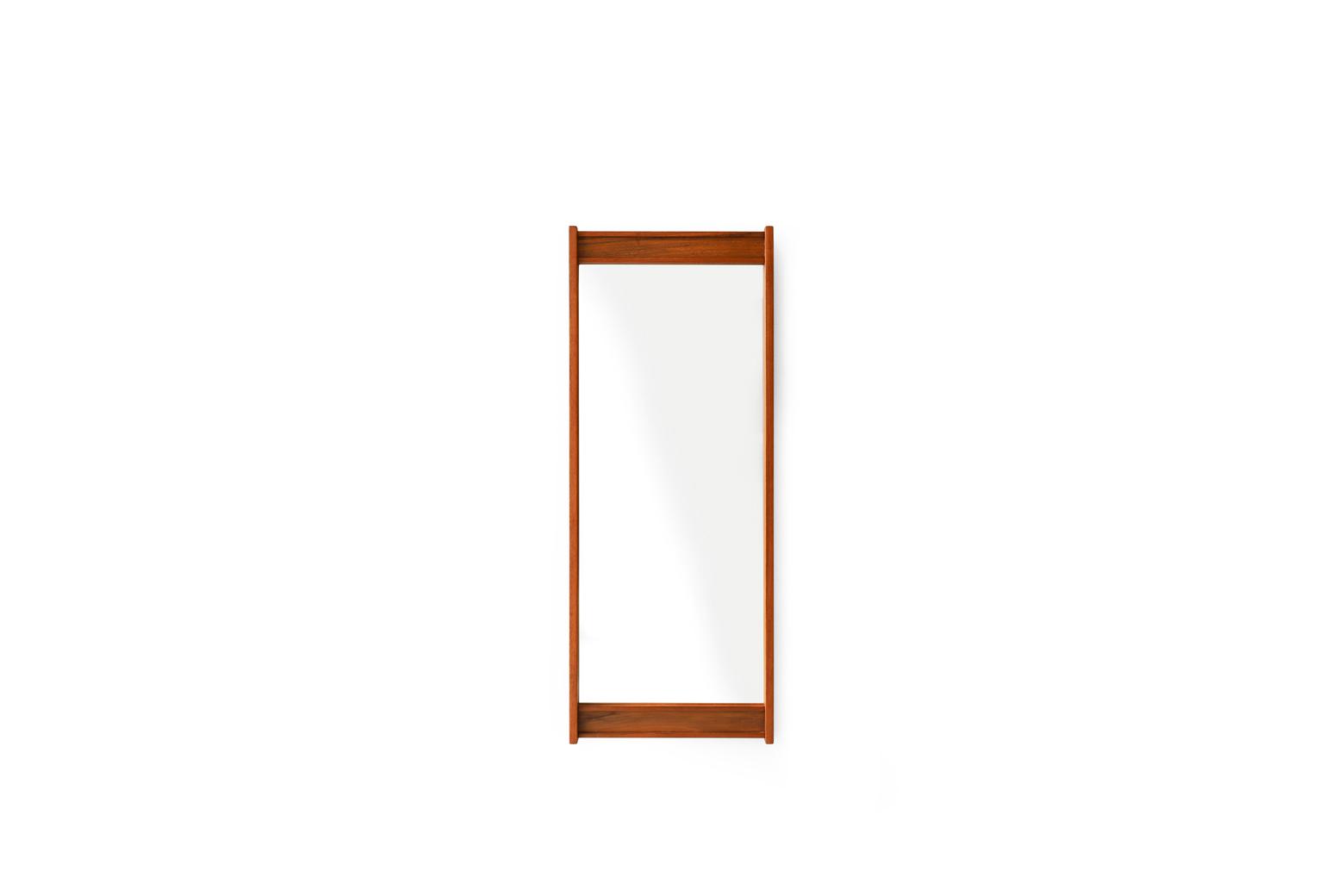 Danish Vintage Teakwood Wall Hanging Mirror/デンマークヴィンテージ ウォールミラー チーク材 壁掛け鏡 北欧インテリア