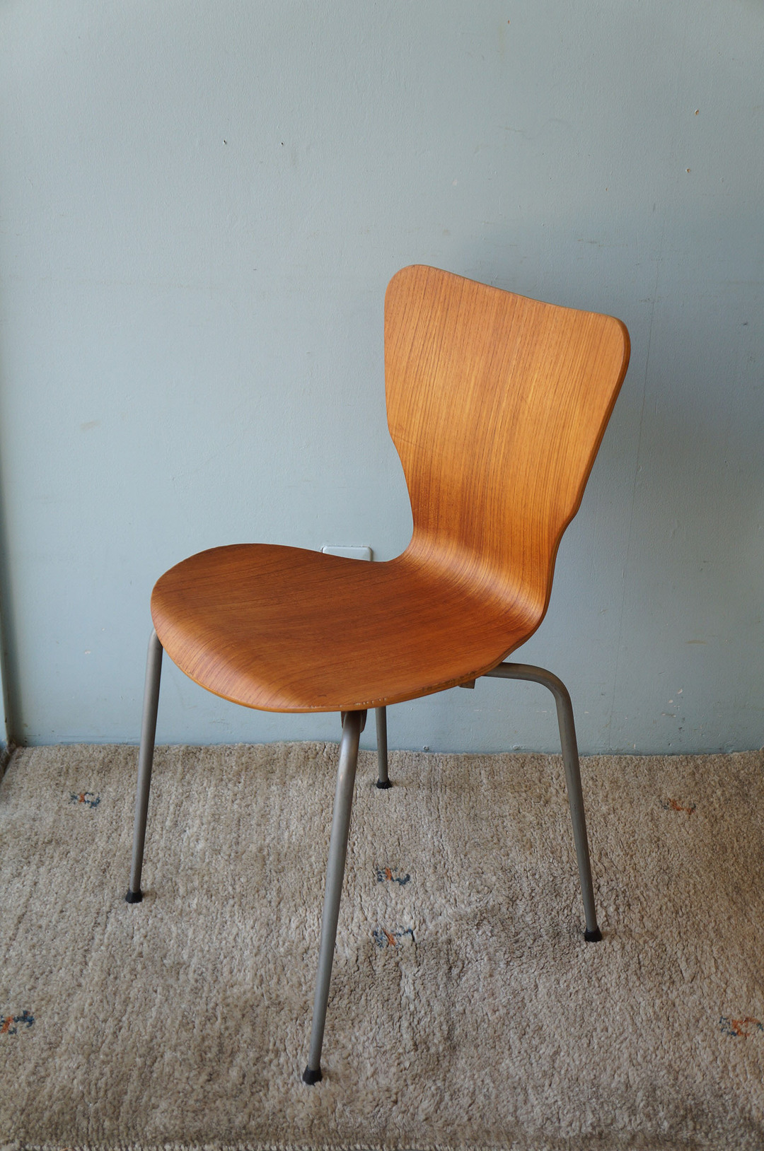 Danish Vintage Teak Plywood Stacking Chair MH Stålmøbler/デンマークヴィンテージ スタッキングチェア チーク材 プライウッド 椅子 ミッドセンチュリー モダン 北欧家具 6