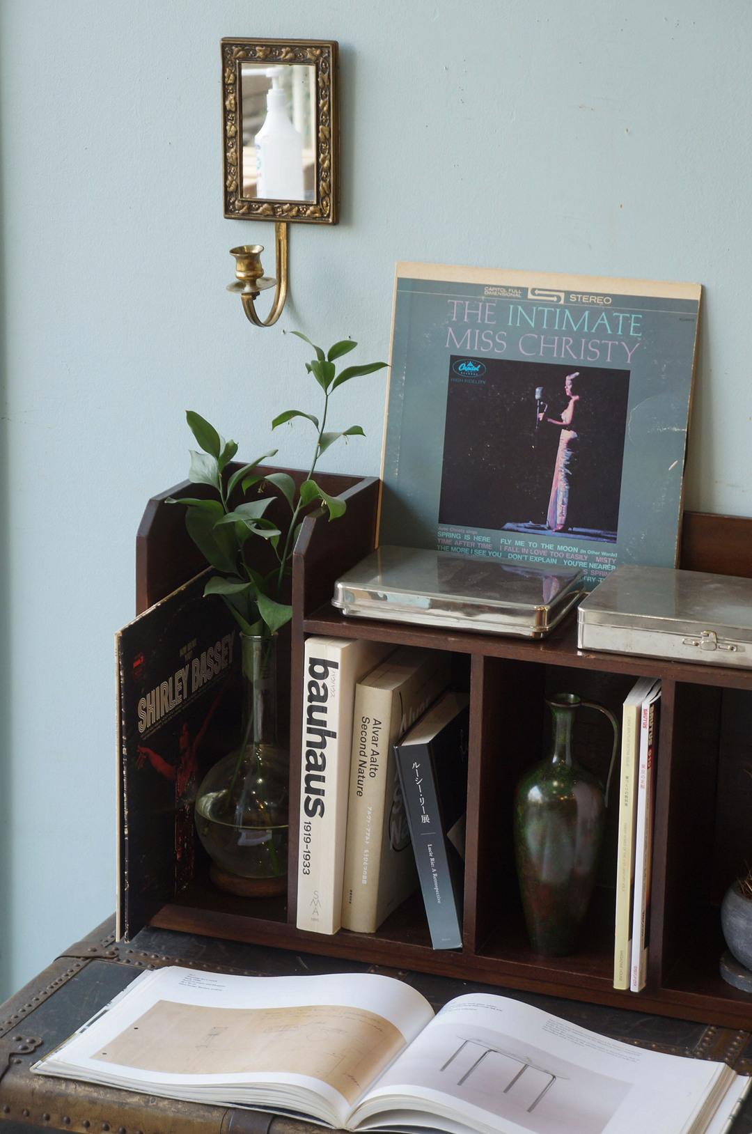 Japanese Vintage Book Stand/ブックスタンド 本立て 本棚 古道具 レトロモダン 収納 ディスプレイ インテリア