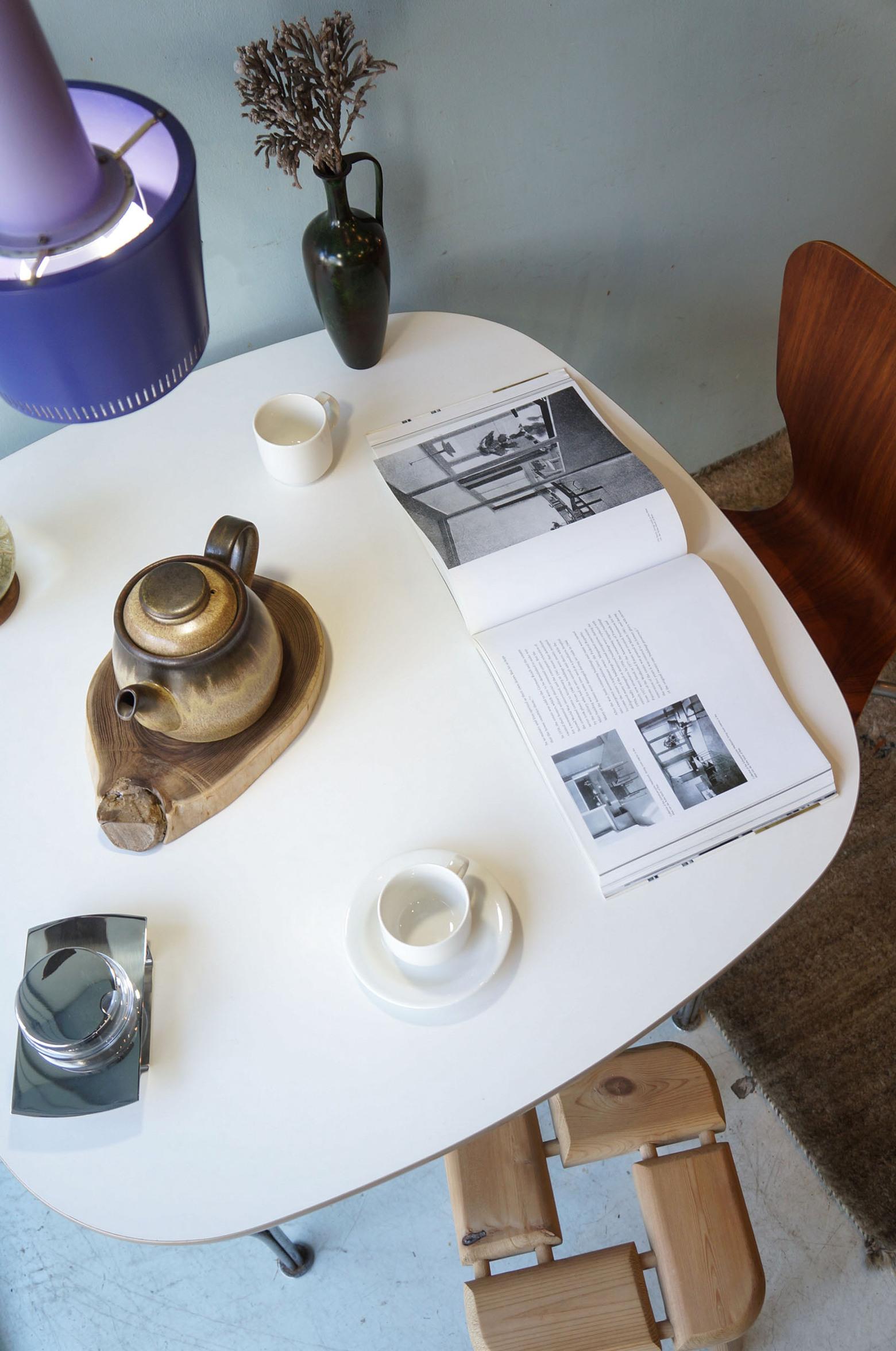 Fritz Hansen Dining Table by Piet Hein 1970's/フリッツハンセン スーパー円テーブル Bテーブル ピート・ハイン 北欧ヴィンテージ 4