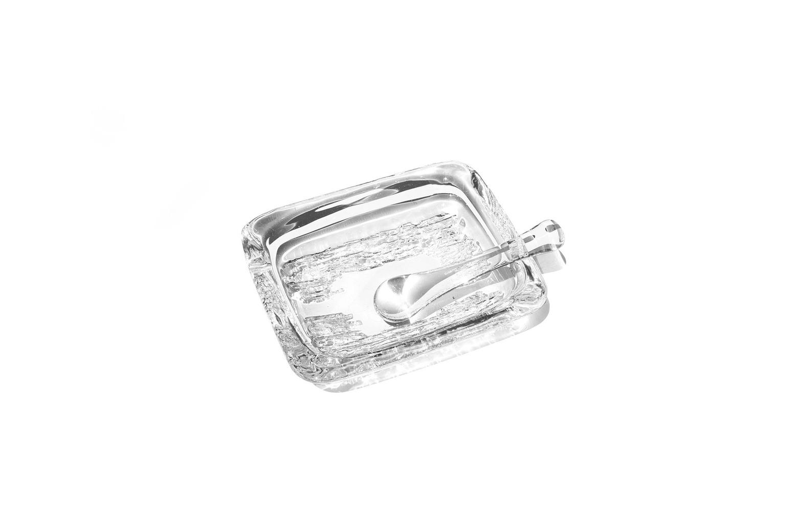 France Daum Crystal Grass Ashtray/フランス ドーム アッシュトレイ クリスタルガラス 灰皿 インテリア