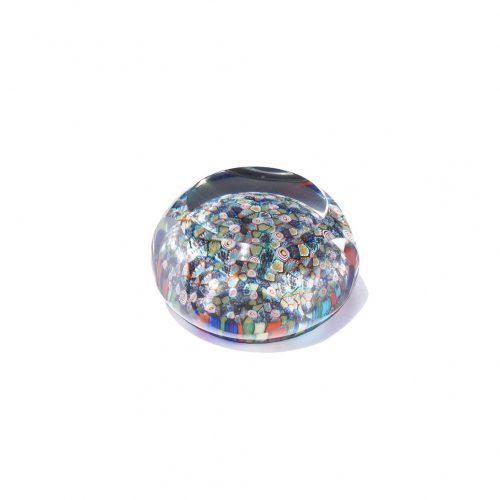 Italia Venetian Glass Millefiori Paperweight/イタリア ベネチアングラス ミルフィオリ ペーパーウェイト ガラス工芸 インテリア