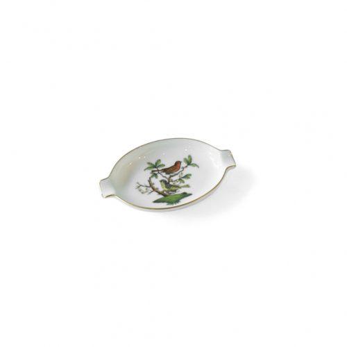 HEREND Rothschild Bird Porcelain Ashtray/ヘレンド ロスチャイルド・バード ハンガリー インテリア アッシュトレイ 灰皿