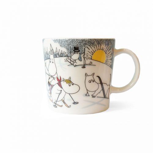 ARABIA Moomin Mug Cup Skiing with Mr.Brisk/アラビア ムーミンマグ ブリスクさんとスキー 北欧食器 マグカップ フィンランド 廃盤 1