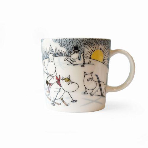 ARABIA Moomin Mug Cup Skiing with Mr.Brisk/アラビア ムーミンマグ ブリスクさんとスキー 北欧食器 マグカップ フィンランド 廃盤 2