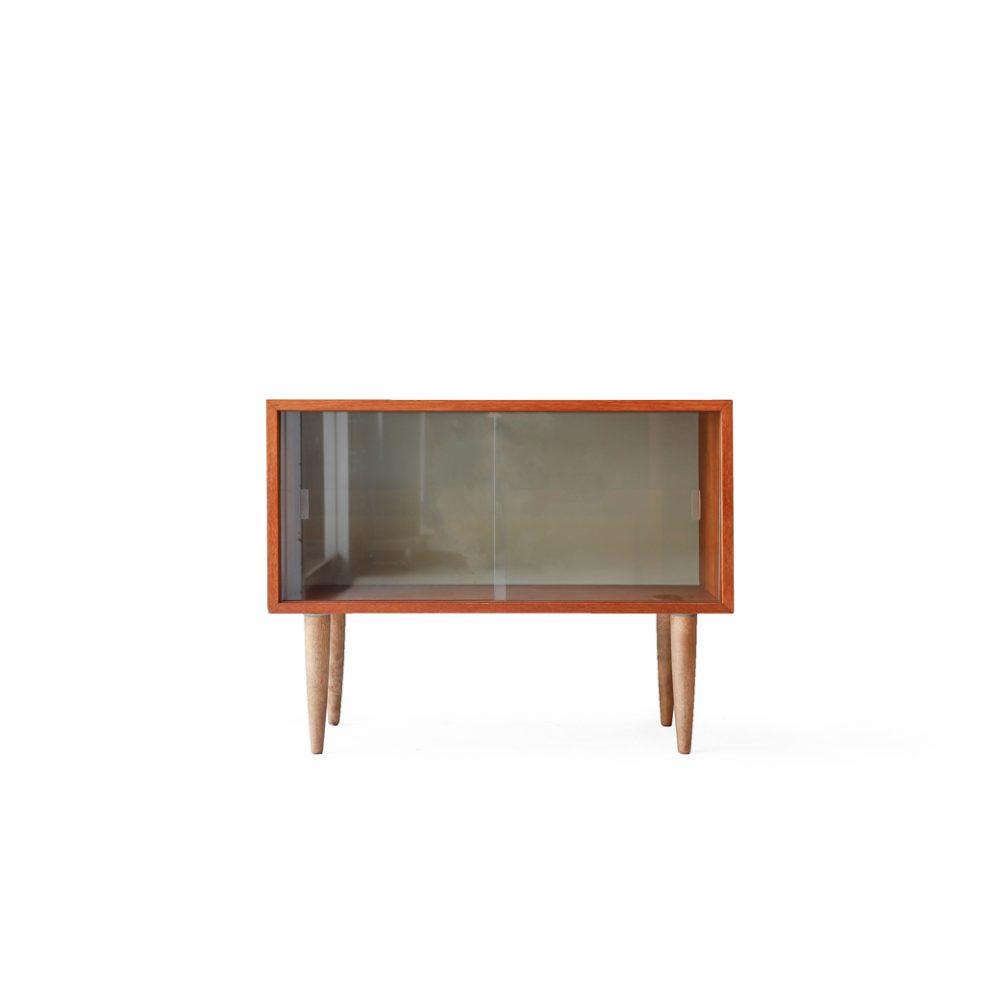 Danish Vintage Mini Glass Sideboard/デンマーク ヴィンテージ ミニサイドボード ガラスキャビネット 収納 北欧家具
