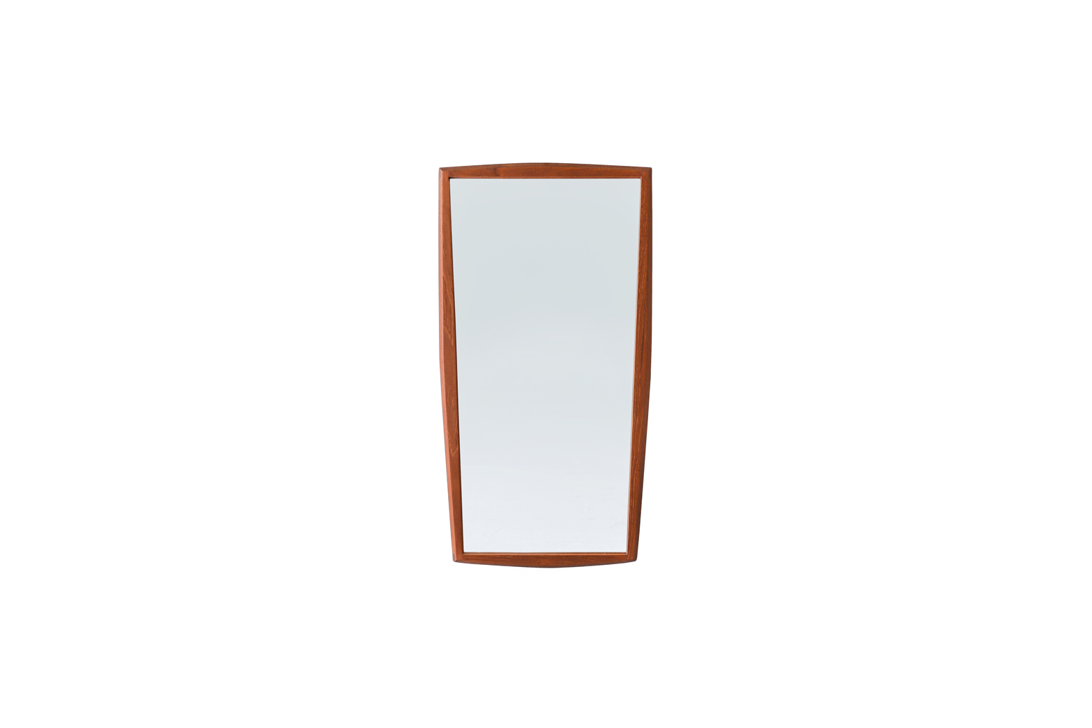Danish Vintage Jansen Spejle Teak Frame Wall Mirror/デンマークヴィンテージ ウォールミラー チークフレーム 壁掛け鏡 インテリア 北欧デザイン ミッドセンチュリーモダン