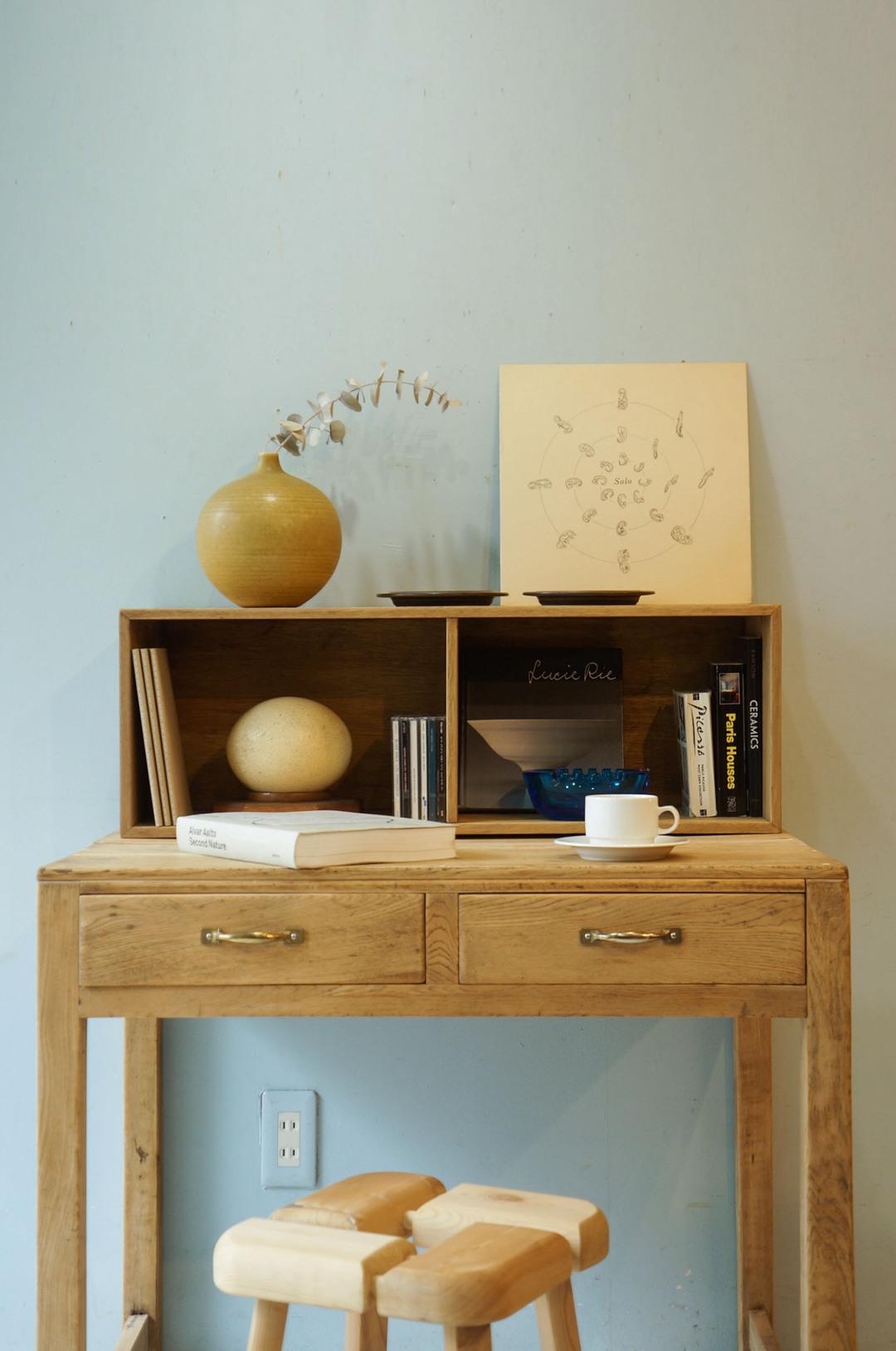 Japanese Vintage Wooden Bookcase/ジャパンヴィンテージ ウッドボックス 木箱 本箱 収納ボックス レトロ シャビー