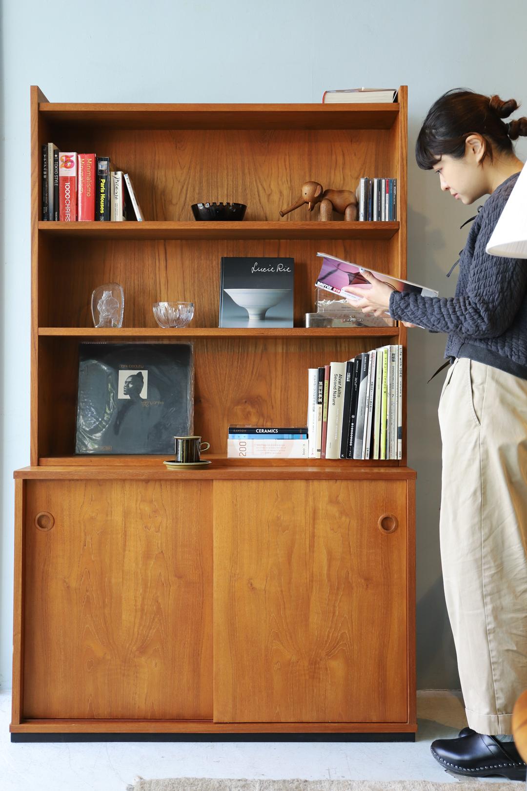 Danish Vintage Book Case Cabinet/デンマーク ヴィンテージ ブックケース キャビネット シェルフ 本棚 チーク材 収納 北欧家具