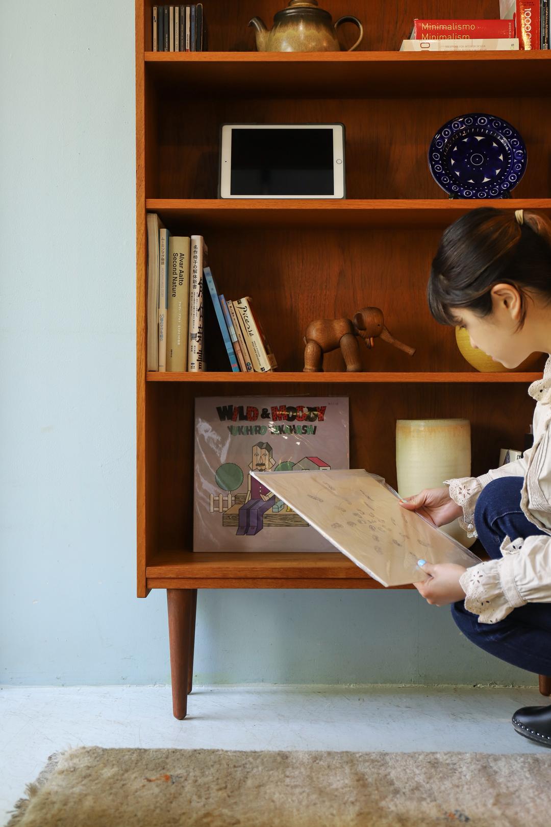 Danish Vintage Teakwood Bookcase/デンマークヴィンテージ ブックケース シェルフ 本棚 チーク材 収納 北欧家具